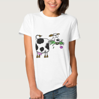Funny cartoon cow gifts and accessories mad cow tee shirt