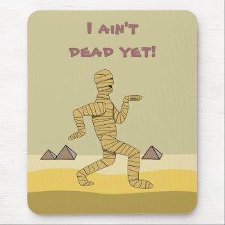 Funny Cartoon Egyptian Mummy Pyramids Custom Mouse Pad