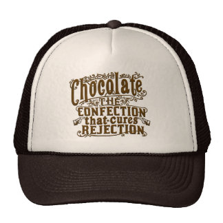 Funny Chocolate Writer Rejection Cure Cap