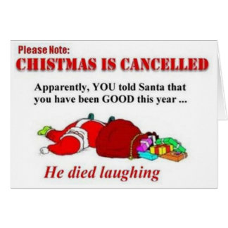 Funny Christmas is Canceled Card