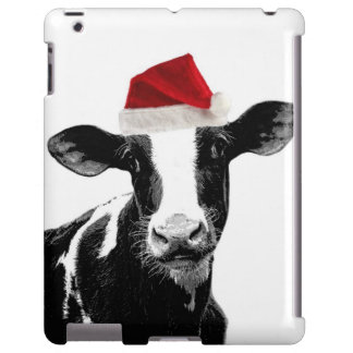 Funny Christmas Santa Cow iPad Case