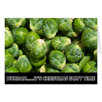 Funny Christmas sprouts Greeting Card