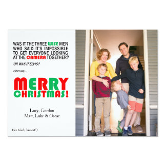 Funny Christmas Wise Men Photo Card 13 Cm X 18 Cm Invitation Card