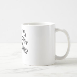 funny cocky carrot  is amazing peace  of ar work basic white mug