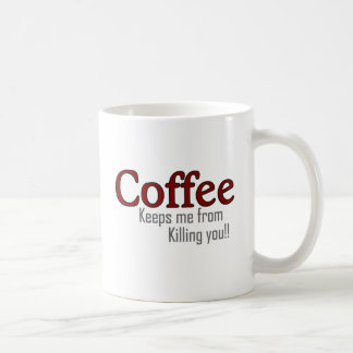 Funny Coffee Design Style Basic White Mug