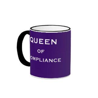 Funny Compliance Job Title & Female Boss Name Ringer Mug