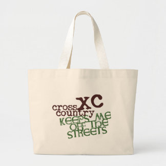 Funny Cross Country Running © Keeps me off Streets Jumbo Tote Bag