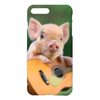 Funny Cute Pig Playing Guitar iPhone 7 Plus Case