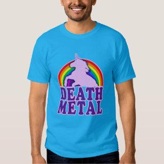 Funny Death Metal Unicorn Rainbow (vintage look) Tee Shirts