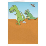 Funny Dinosaur Old Fart Birthday Greeting Card