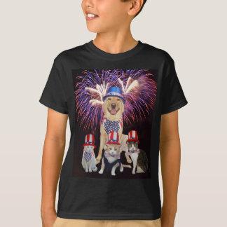 Funny Dog & Cats July 4th Shirts