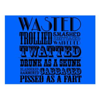 Funny drinking postcard