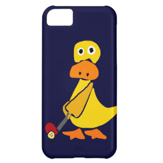 Funny Duck Playing Golf Primitive Art iPhone 5C Case