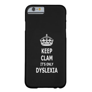 Funny dyslexia barely there iPhone 6 case