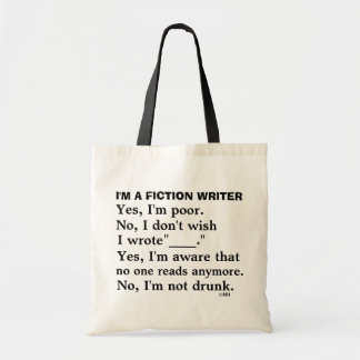 Funny Fiction Writer Answer Sheet Budget Tote Bag