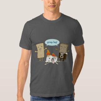 Funny Flaming Marshmallow Tee Shirts