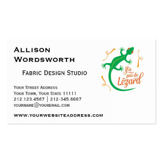 Funny French Expressions: There's No Lizard Pack Of Standard Business Cards