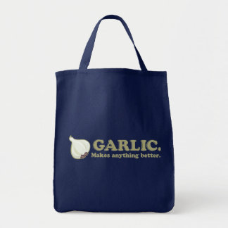 Funny Garlic Grocery Tote Bag