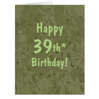Funny Giant 39th Birthday Card Template Customize
