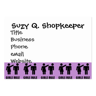 Funny Girls Rule Purple Girl Power Feminist Gifts Pack Of Chubby Business Cards