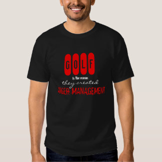 Funny GOLF Anger Management T-Shirt