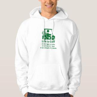 Funny Golf Cart Golfer Green White Hoodie