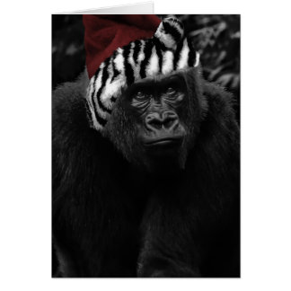 Funny Gorilla Christmas Greeting Card