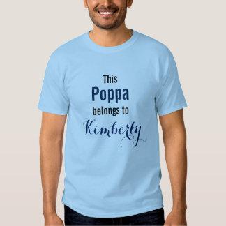 Funny Grandpa Shirt: This Poppa belongs to... T Shirts