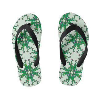 Funny green frogs doing synchronised swimming flip flops