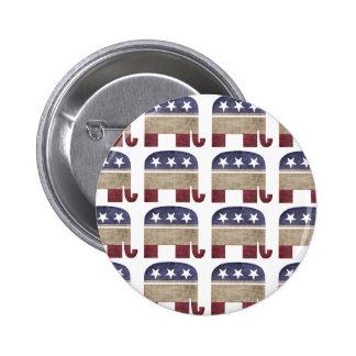 Funny Herd of Elephants Republican GOP Election 6 Cm Round Badge