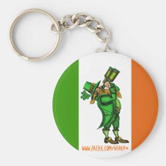 Funny Irish leprechaun St. Patrick's day keychain