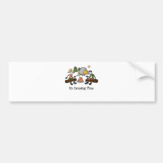 Funny It's Camping Time Outdoor Sport Bumper Sticker