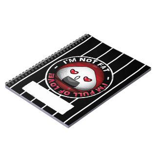Funny japanese riceball spiral notebook