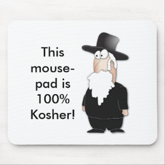Funny Jewish rabbi - cool cartoon Mouse Pad