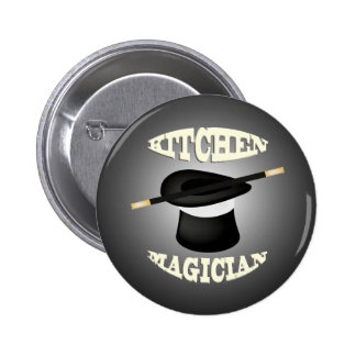 Funny Kitchen Magician Button