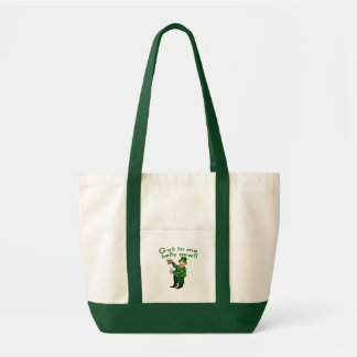 Funny Leprechaun and Beer Tshirt for St. Pat's Impulse Tote Bag