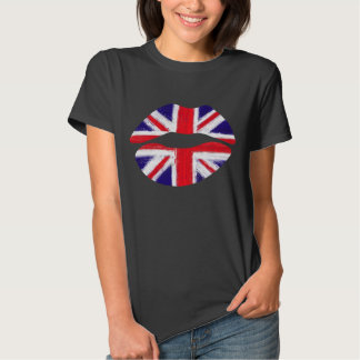 funny lips,uk lips, union jack t shirts