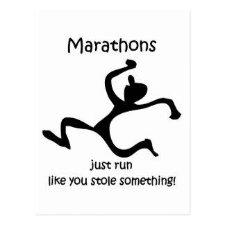 Funny marathon postcard