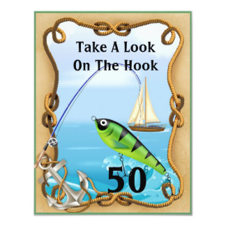 FUNNY Mens Fishing Invitations TEMPLATE