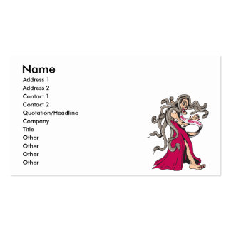funny miss monster ugly pageant winner cartoon pack of standard business cards