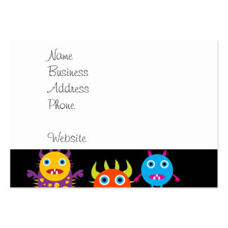 Funny Monster Bash Cute Creatures Party Pack Of Chubby Business Cards