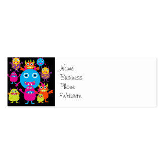 Funny Monster Bash Cute Creatures Party Pack Of Skinny Business Cards