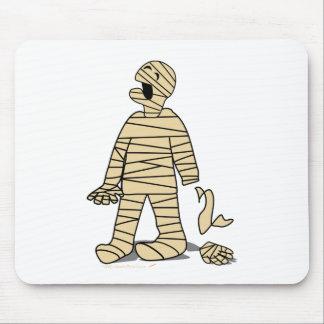 Funny Mummy Broken Hand Halloween Mouse Pad
