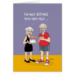 """Funny """"Over the Hill"""" 75th Birthday Greeting Card"""