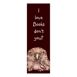 Funny Owl, Please Return Books to BookMark Pack Of Skinny Business Cards