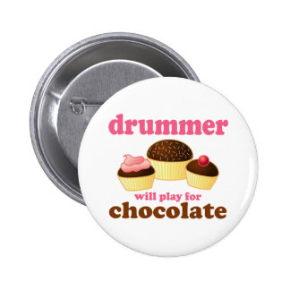 Funny Percussion Drummer 6 Cm Round Badge