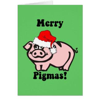 Funny pig Christmas Greeting Card