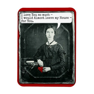 Funny Poet Emily Dickinson Valentine's Day Rectangular Photo Magnet