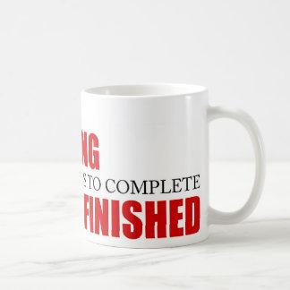 Funny Project Management Saying Finished Basic White Mug