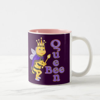 Funny Queen Bee Two-Tone Mug